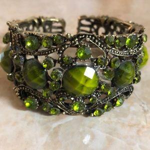 Metal Olive Bangle Cuff Bracelet